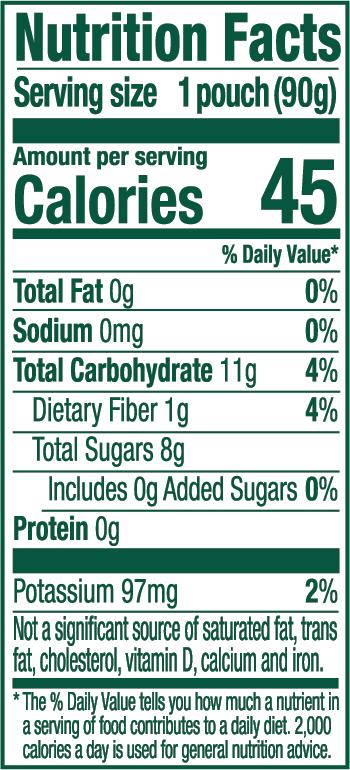 Strawberry Apple Nutrition Panel