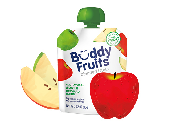 Buddy Fruits Orchard Apple blend pouch