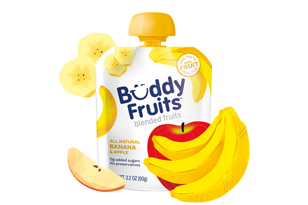 Buddy Fruits Banana & Apple pouch