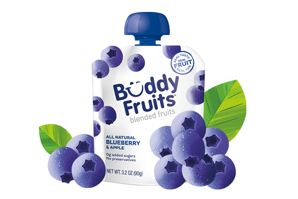Buddy Fruits Blueberry & Apple pouch