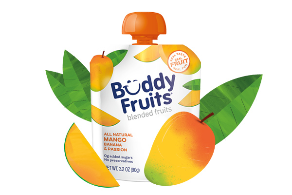 Buddy Fruits Mango, Banana, Passion pouch
