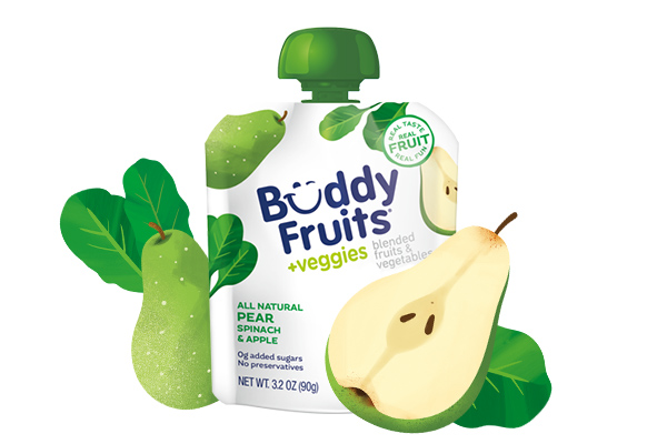 Pear, spinach and apple pouch image
