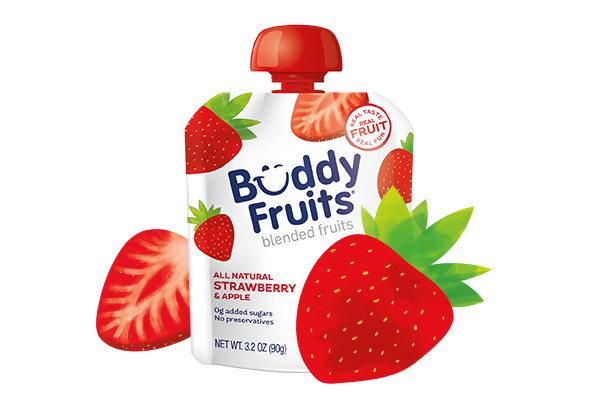 Buddy Fruits Strawberry Apple pouch