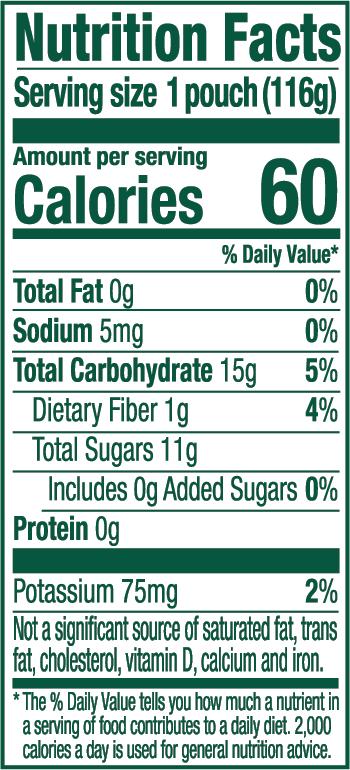Apple Cinnamon Nutrition Label