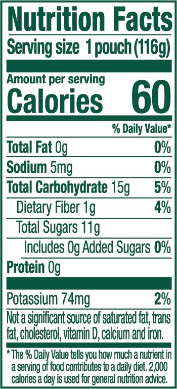 Apple Orchard Blend Nutrition Label