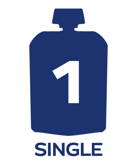 Single pouch badge