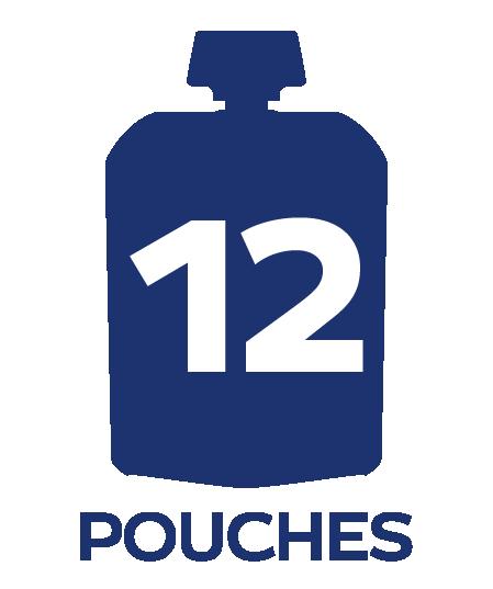 twelve pouch badge